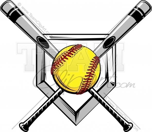 590x513 Softball Clip Art