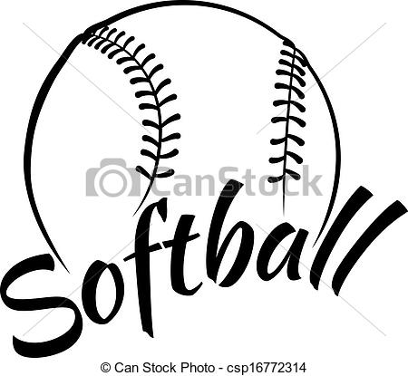 450x415 Girls Softball Clipart
