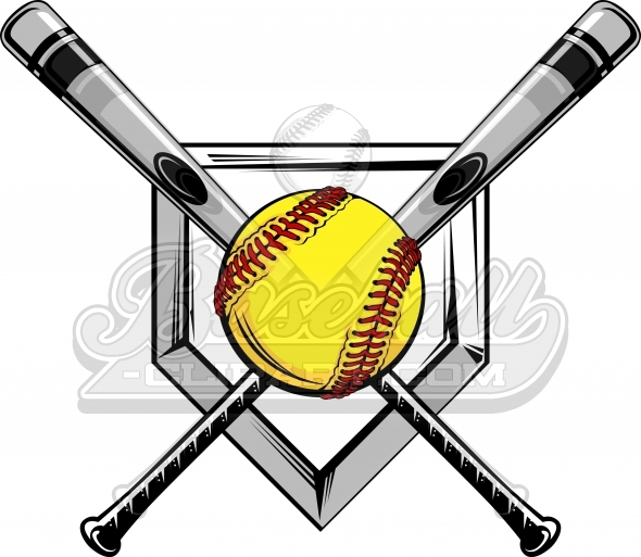 590x513 Glove Clipart Softball Bat