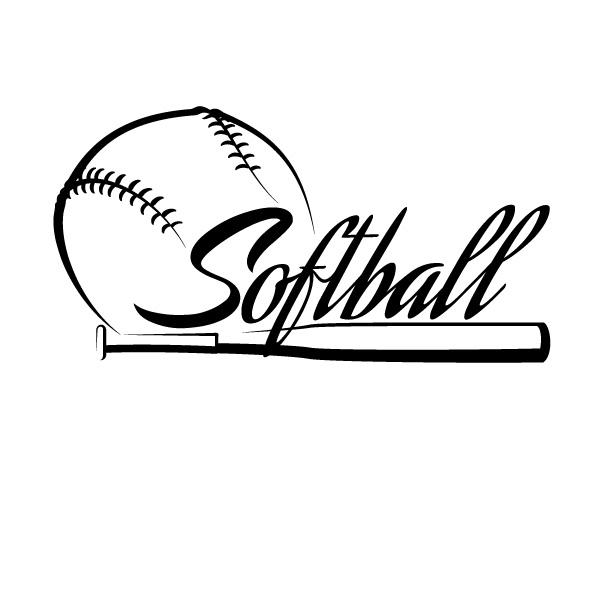 600x600 Softball Balks And Bat Drawing Collection