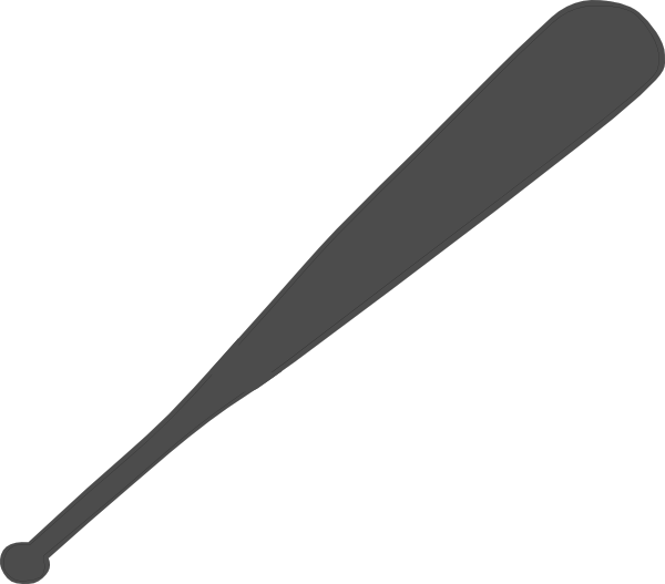 600x527 Softball Bat Clipart