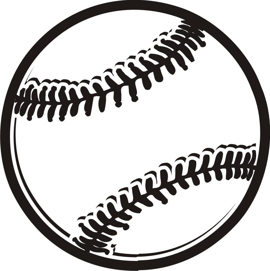893x894 Baseball Clipart Black And White