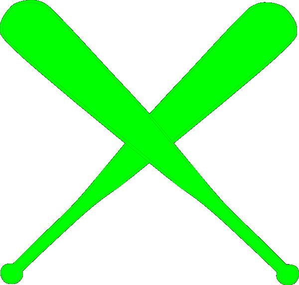 600x572 Hot Green Bats Clip Art