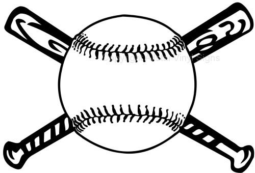 500x340 Softball Bat And Ball Clipart