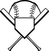 161x170 Clipart Of Baseball Softball Bats Tribal Graph K7131544