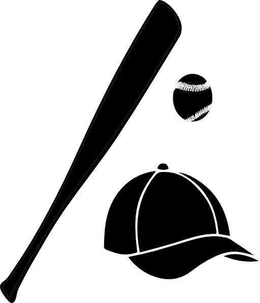 512x595 Baseball Bat Baseball Ball And Bat Clip Art Free Clipart Image 2