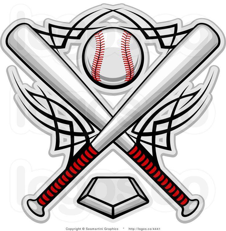 Softball Bats Crossed