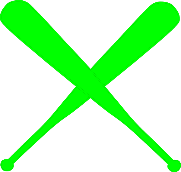 600x572 Bat Clipart Softball Bat Crossed
