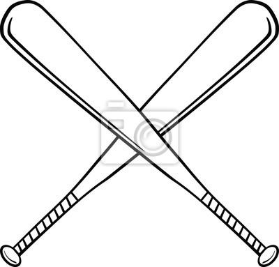 400x383 Softball Bats Crossed Clipart