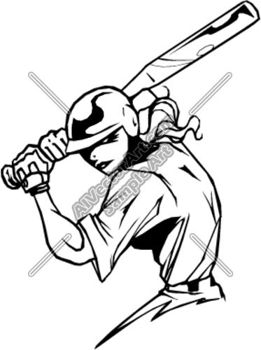 373x500 Softball Batter Clipart