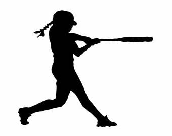 Softball silhouette. Batter clipart free download