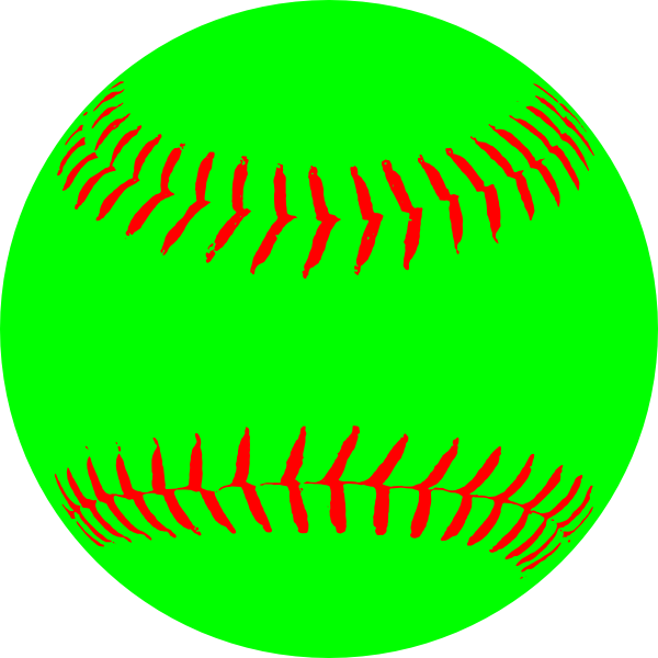 600x600 Green Softball Clip Art
