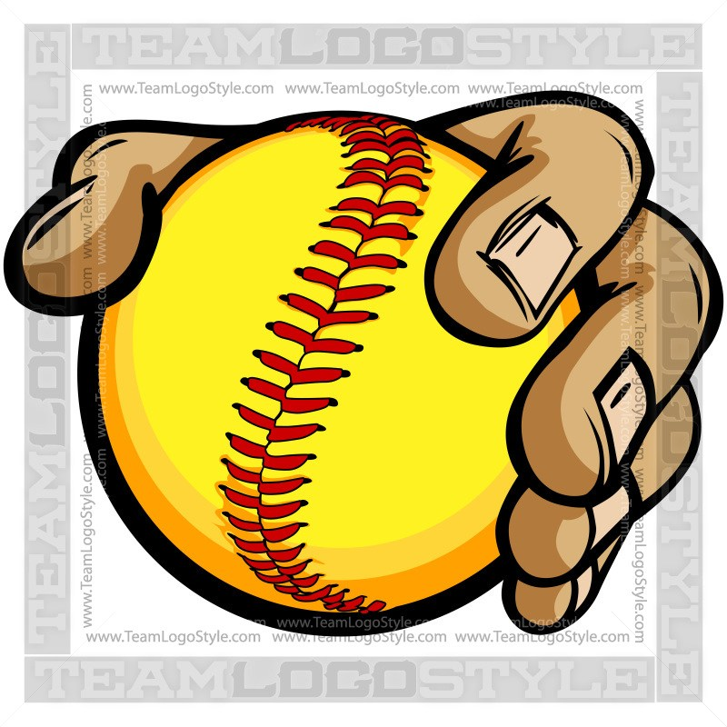 800x800 Hands Holding Softball Cartoon