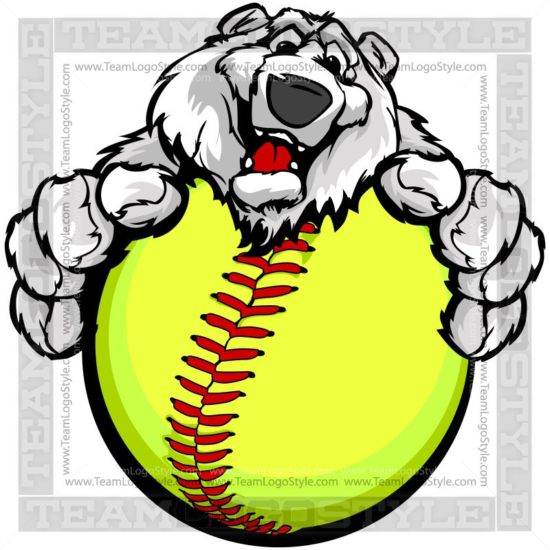 800x800 Polar Bear Hitting Softball