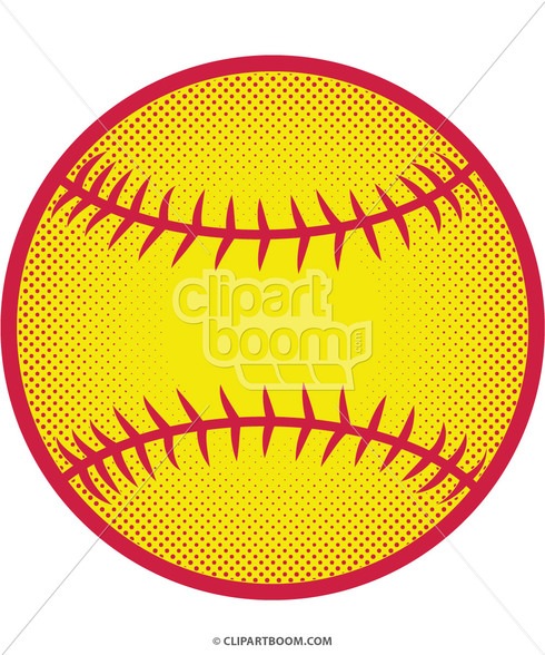 490x588 Softball Clip Art