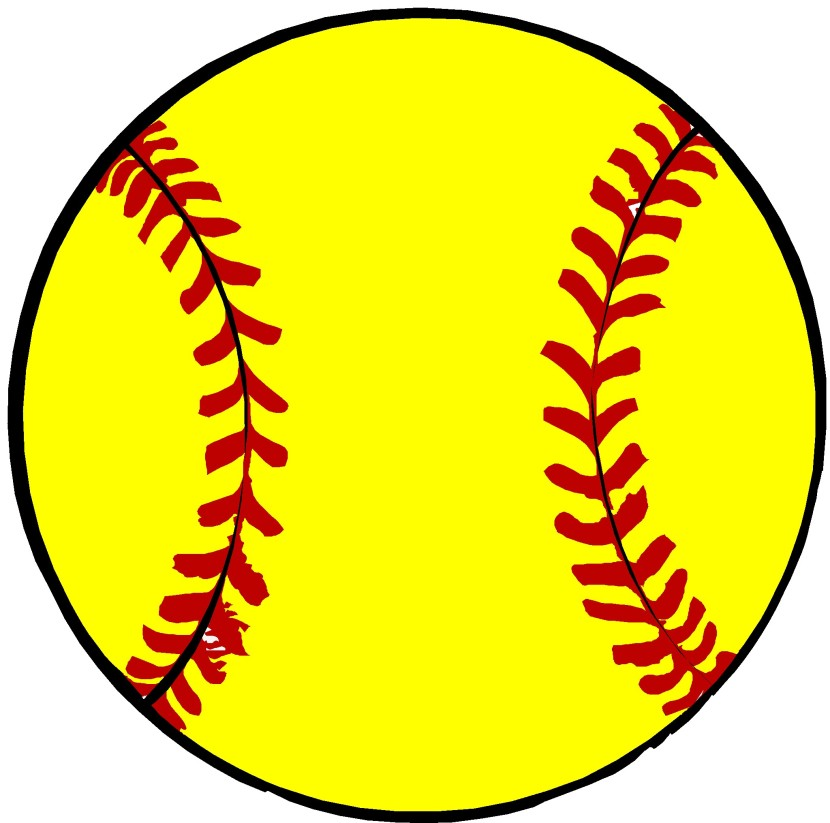 830x823 Softball Clip Art