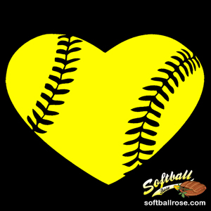 300x300 Softball Heart Clipart