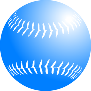 300x300 Blue Softball Clip Art