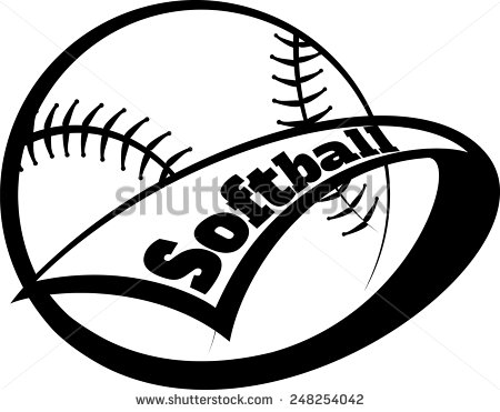 450x371 Softball Clip Art