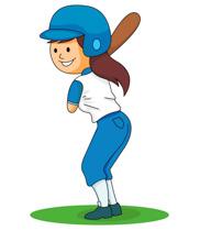192x210 Girls Softball Cliparts