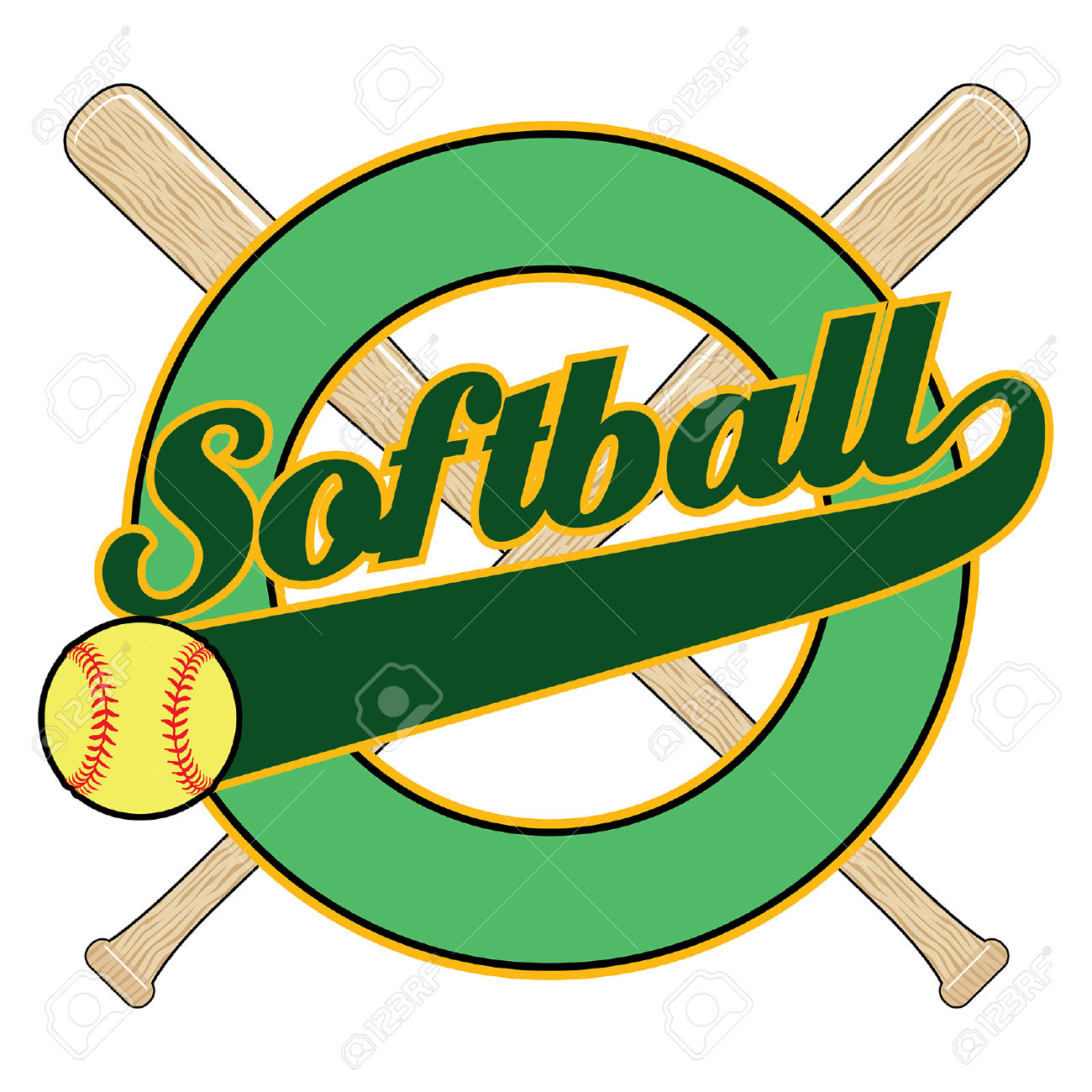 1300x1300 Softball Clip Art