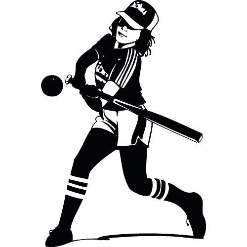 500x500 Clipart Softball Softball Baseball Softball Clipart Free