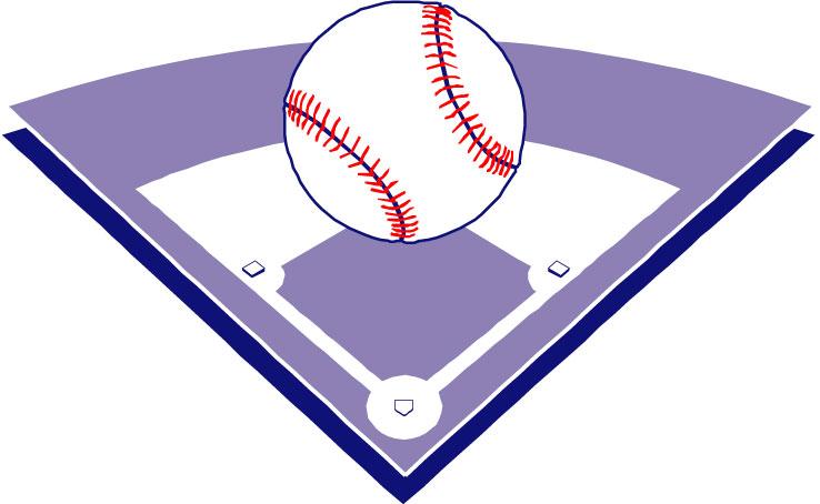 738x454 Baseball Diamond Baseball Field Clip Art 1