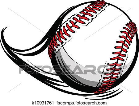 450x345 Clipart Of Vector Illustration Of Softball Or Baseball