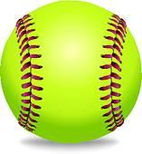 157x170 Softball Clip Art