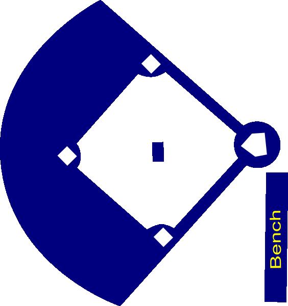 564x598 Baseball Field Navy Clip Art