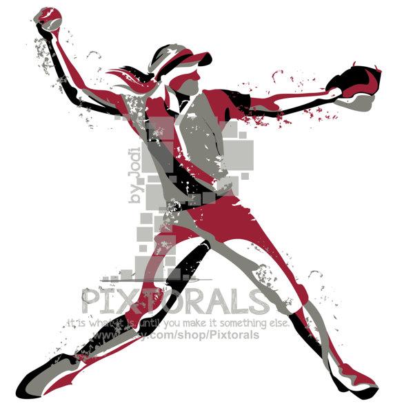 570x595 Softball Player Vector! Softball Player As Png, Jpg (High Res)