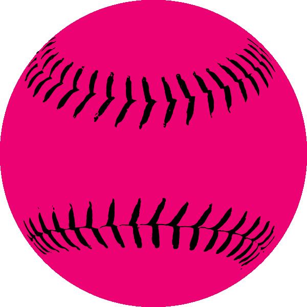 600x600 Pink Softball Clip Art Vector Clip Art Online Royalty Free Image