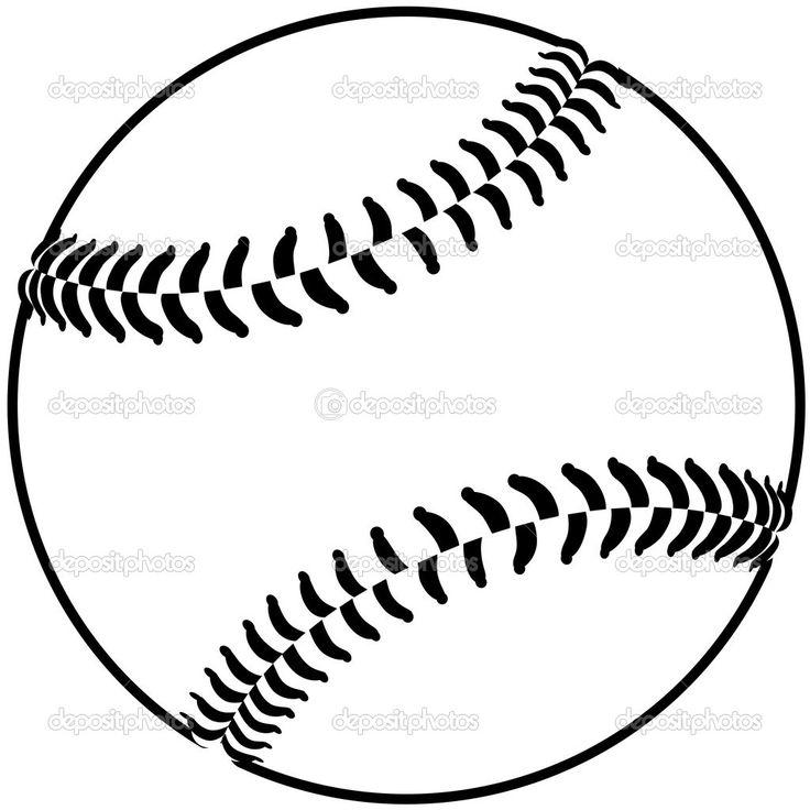 736x736 Softball Laces Clip Art