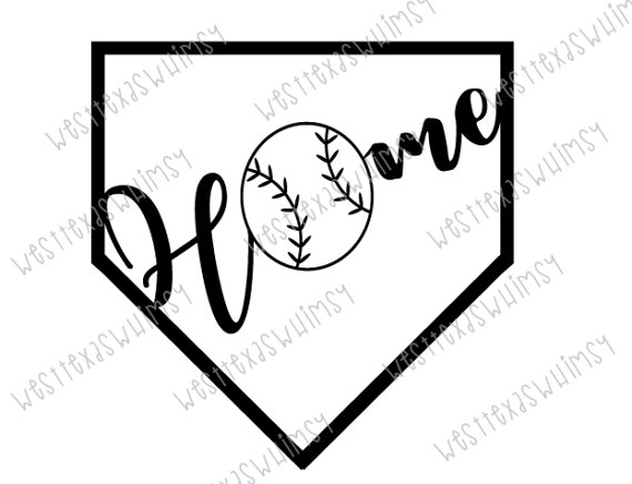 570x436 Baseball Home Plate Svg Softball Home Plate Svg Softball Mom