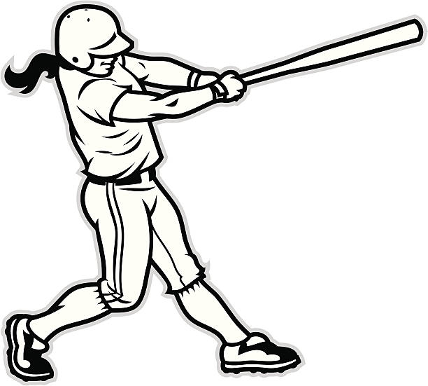 612x551 Softball Girl Batter Clipart