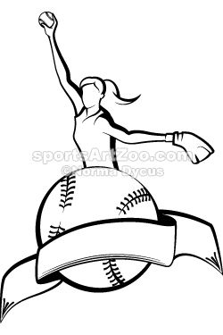 Softball Pitcher Clipart