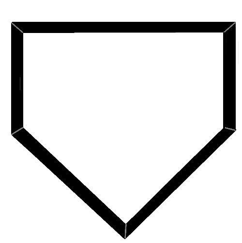 500x501 Softball Home Plate Clip Art