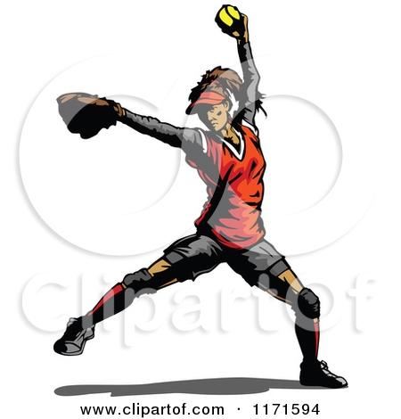 450x470 Softball Pitcher Clip Art Cliparts