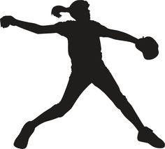 236x213 Softball Player Silhouette Clipart