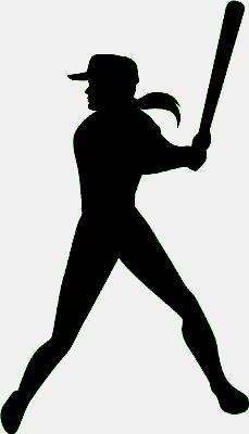 229x400 Softball Silhouette Clip Art Cliparts