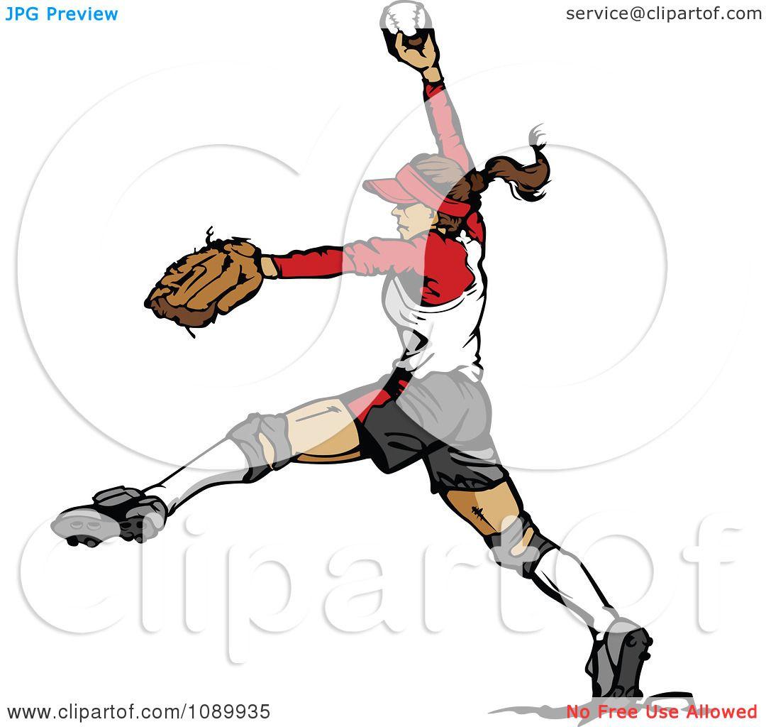 1080x1024 Softball Pitcher Clipart
