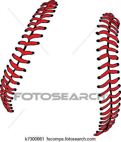 402x470 Clipart Of Baseball Laces Or Softball Laces Ve K7300661