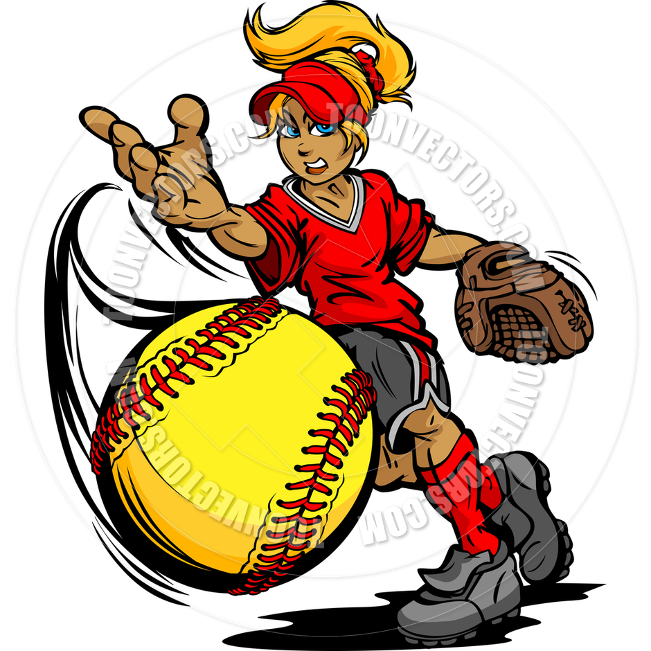 940x940 Fastpitch Softball Player Pitching Fast Pitch Softball Vector