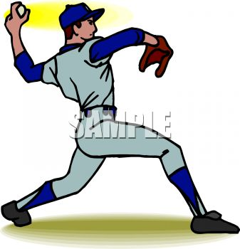 337x350 Pitching Clipart