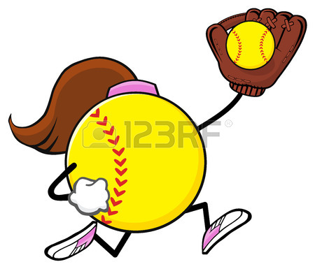 450x385 220 Girls Softball Stock Illustrations, Cliparts And Royalty Free