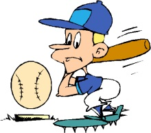 220x194 Slow Pitch Softball Clipart