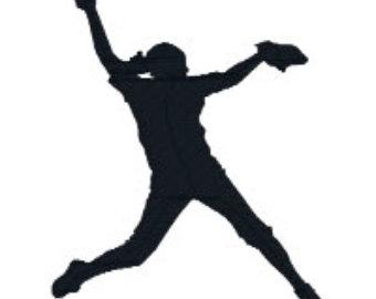 340x270 Softball Silhouette Clip Art