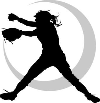 341x350 Softball Player Clipart Clipart