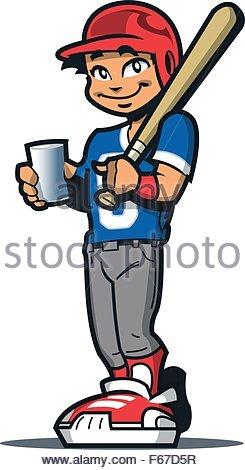 245x470 A Cartoon Baseball Player Man Smiling Stock Vector Art