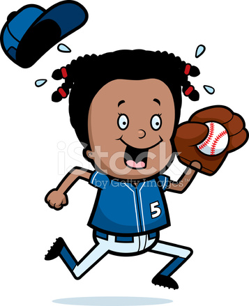 357x439 Cartoon Child Softball Stock Vector